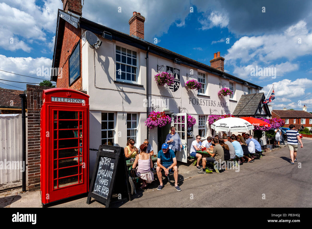 A Traditional Country Pub In The Village Of Fairwarp, Sussex, United Kingdom - Stock Image