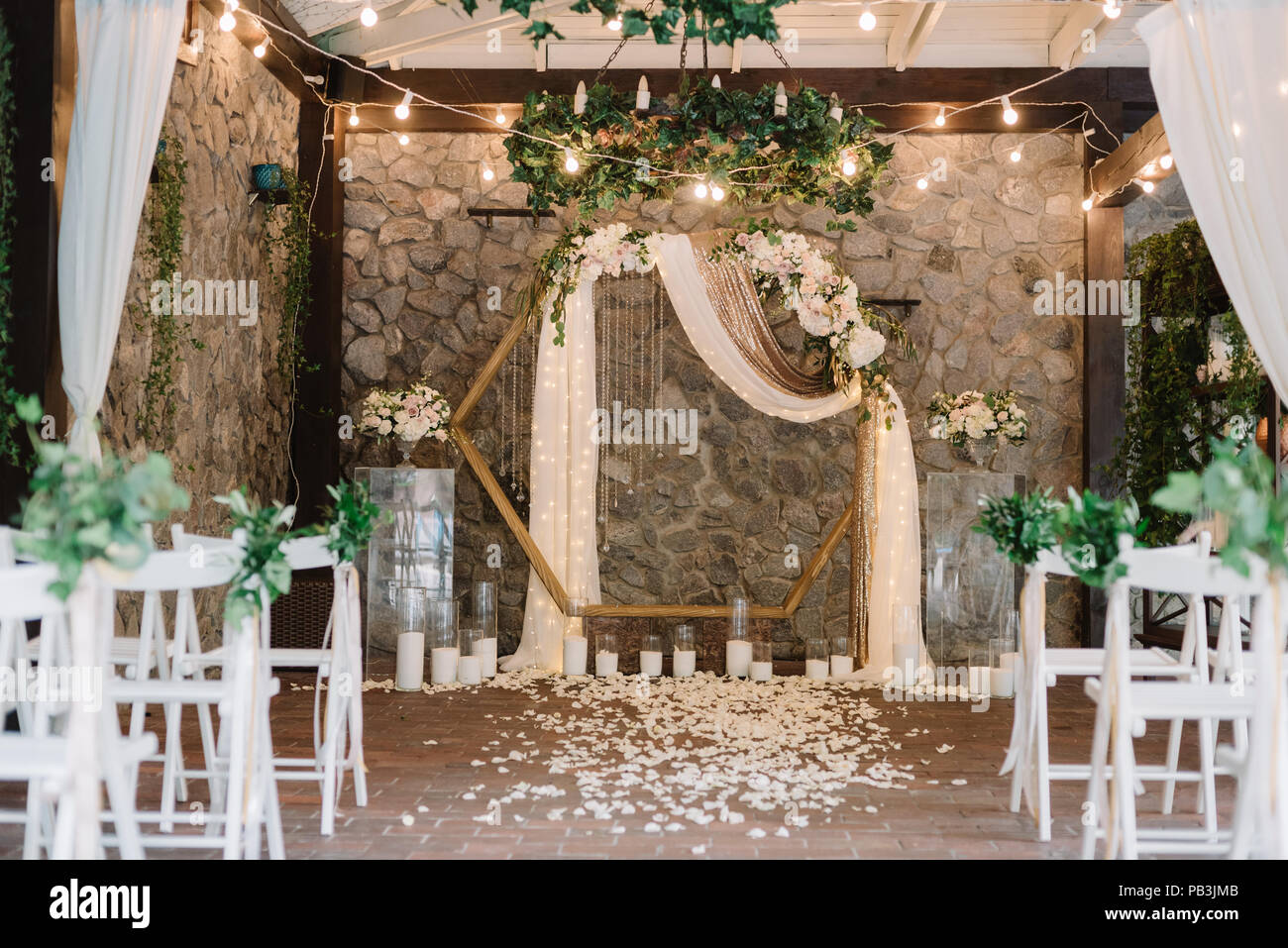 Magnificent Decoration Of A Wedding Ceremony With Original Details