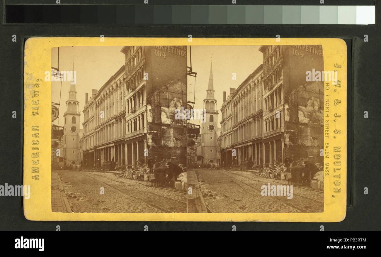 1834 Washington Street, northwest, northern limit of the fire (NYPL b11707555-G90F296 003F) - Stock Image