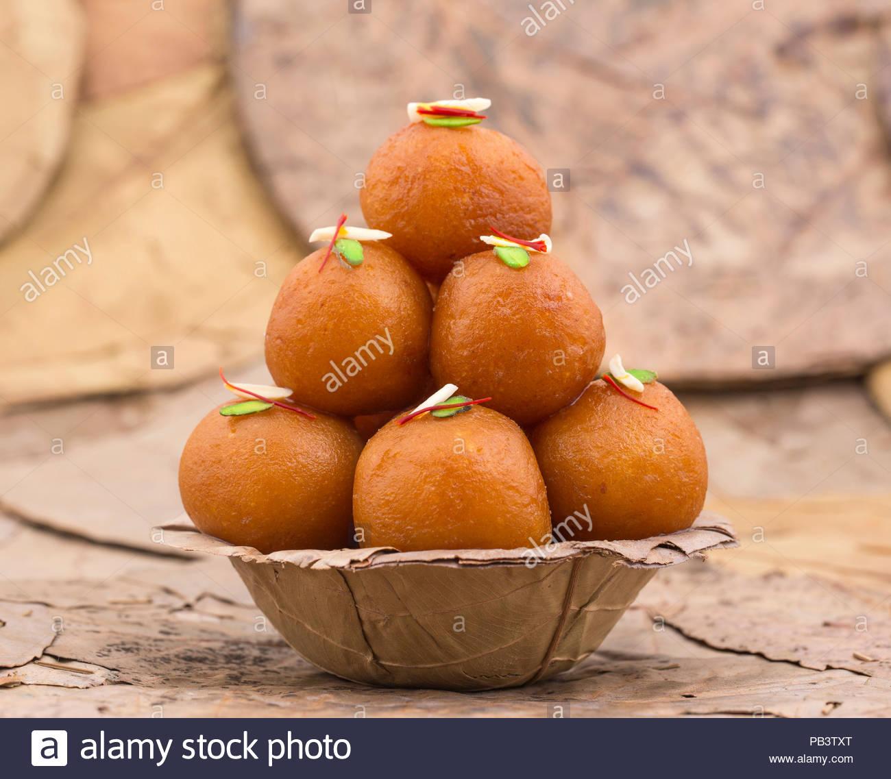 Indian Traditional Dessert Gulab Jamun Stock Photo Alamy