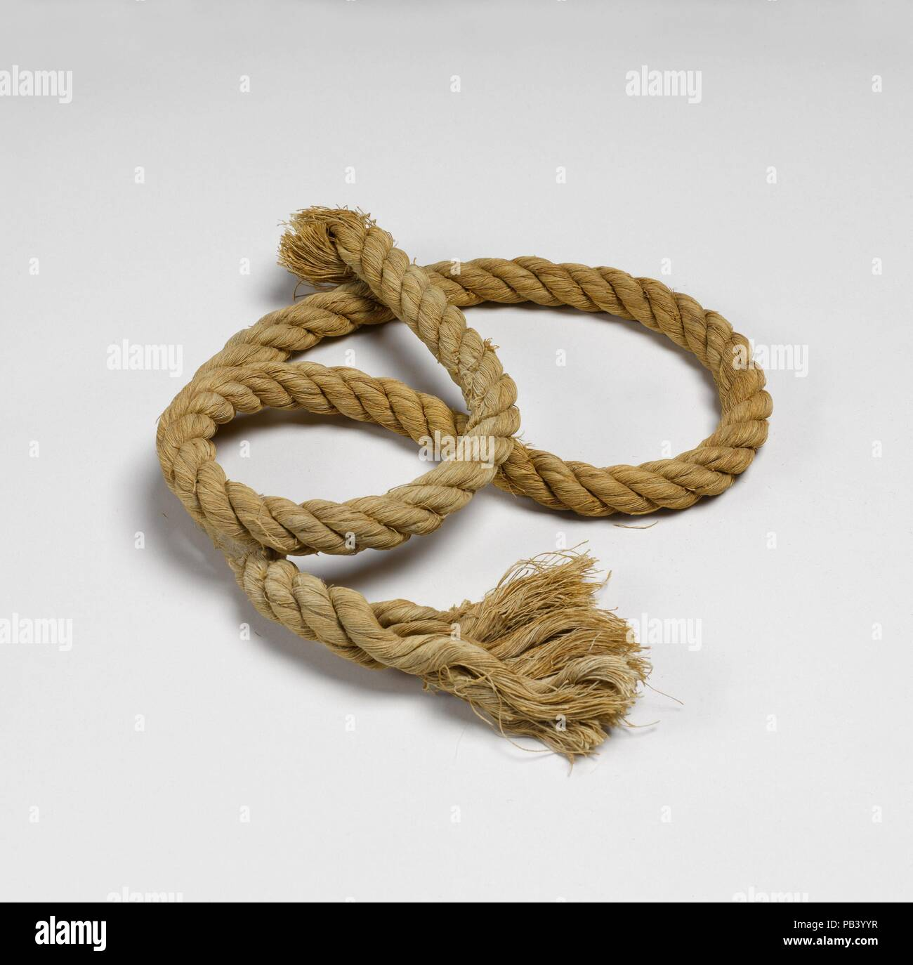 Rope. Dimensions: 119 cm long. Dynasty: Dynasty 11. Reign: reign of Mentuhotep II. Date: ca. 2030-1640 B.C.. Museum: Metropolitan Museum of Art, New York, USA. - Stock Image