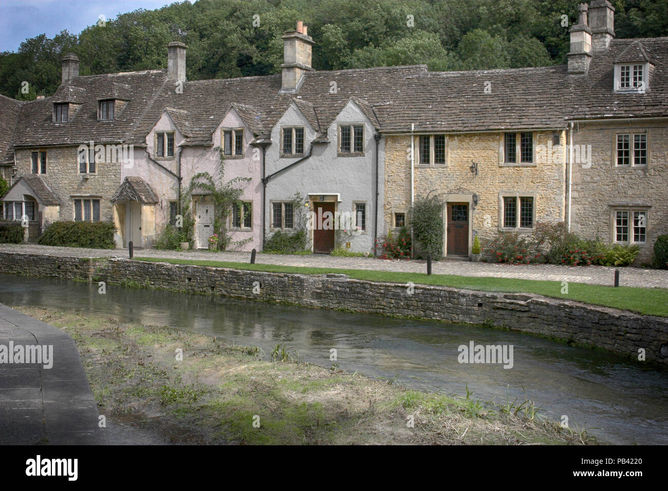 Castle Coombe - Waar Horse location - Stock Image