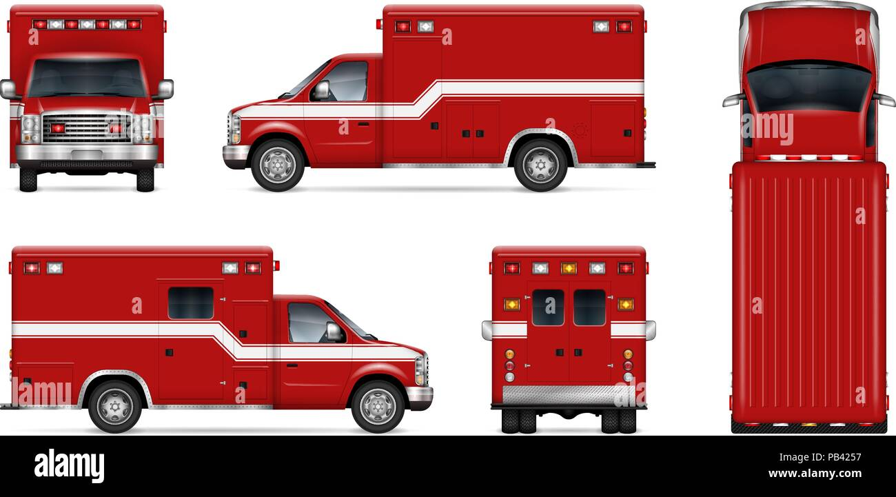 Fire truck vector mockup on white background isolated template of fire truck vector mockup on white background isolated template of rescue van for vehicle branding corporate identity easy to editing and recolor maxwellsz