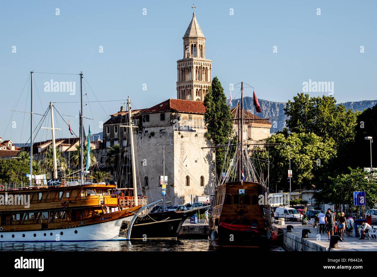 Old Split, the Historic Center of Split, Croatia - Stock Image