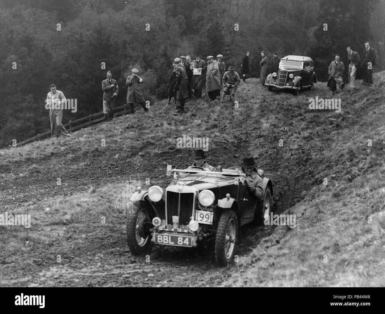 1938 MG TA Midget, APO Langley - Stock Image
