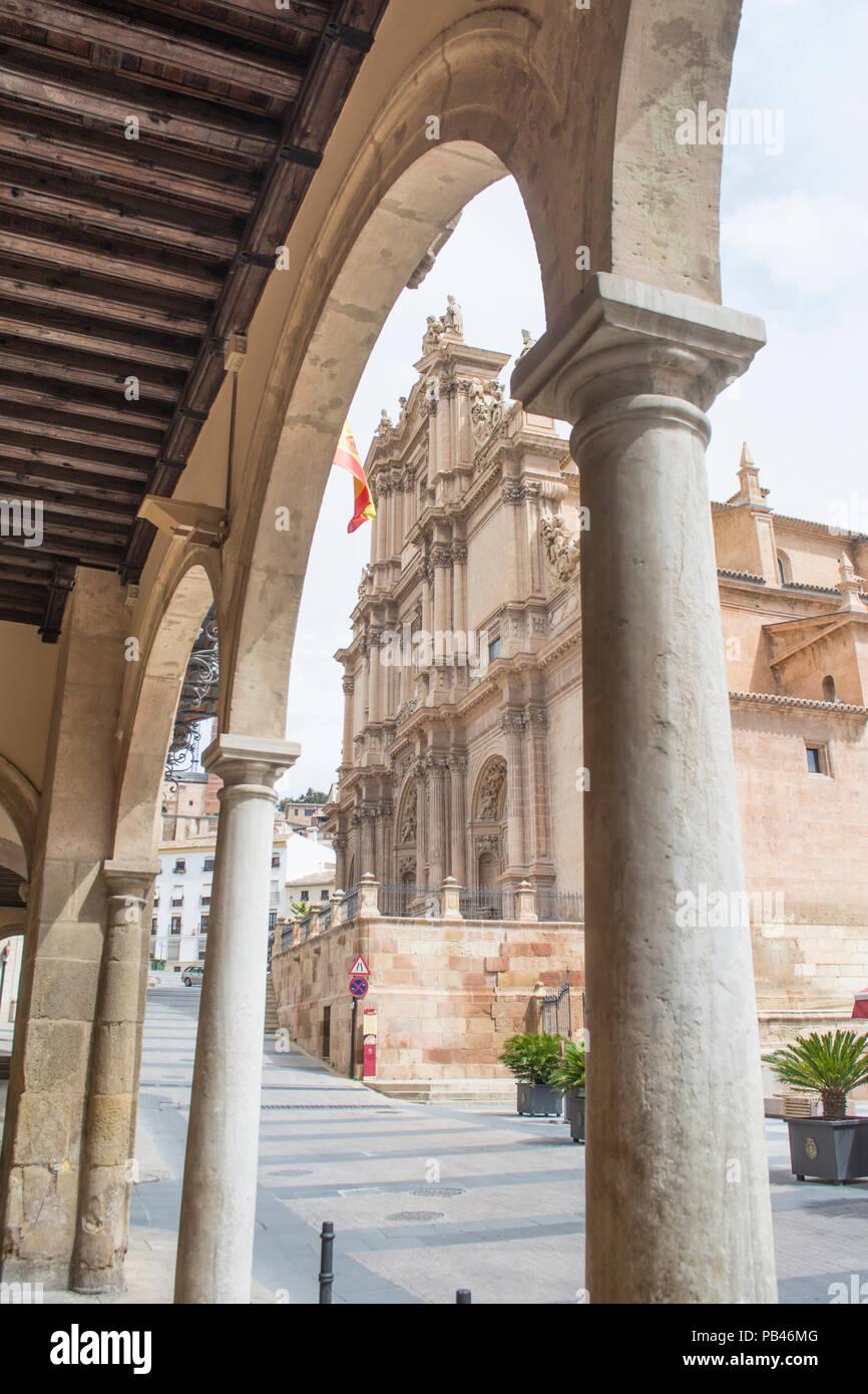 Colegiata de San Patricio church in the plaza de espana in Lorca Murcia Spain - Stock Image