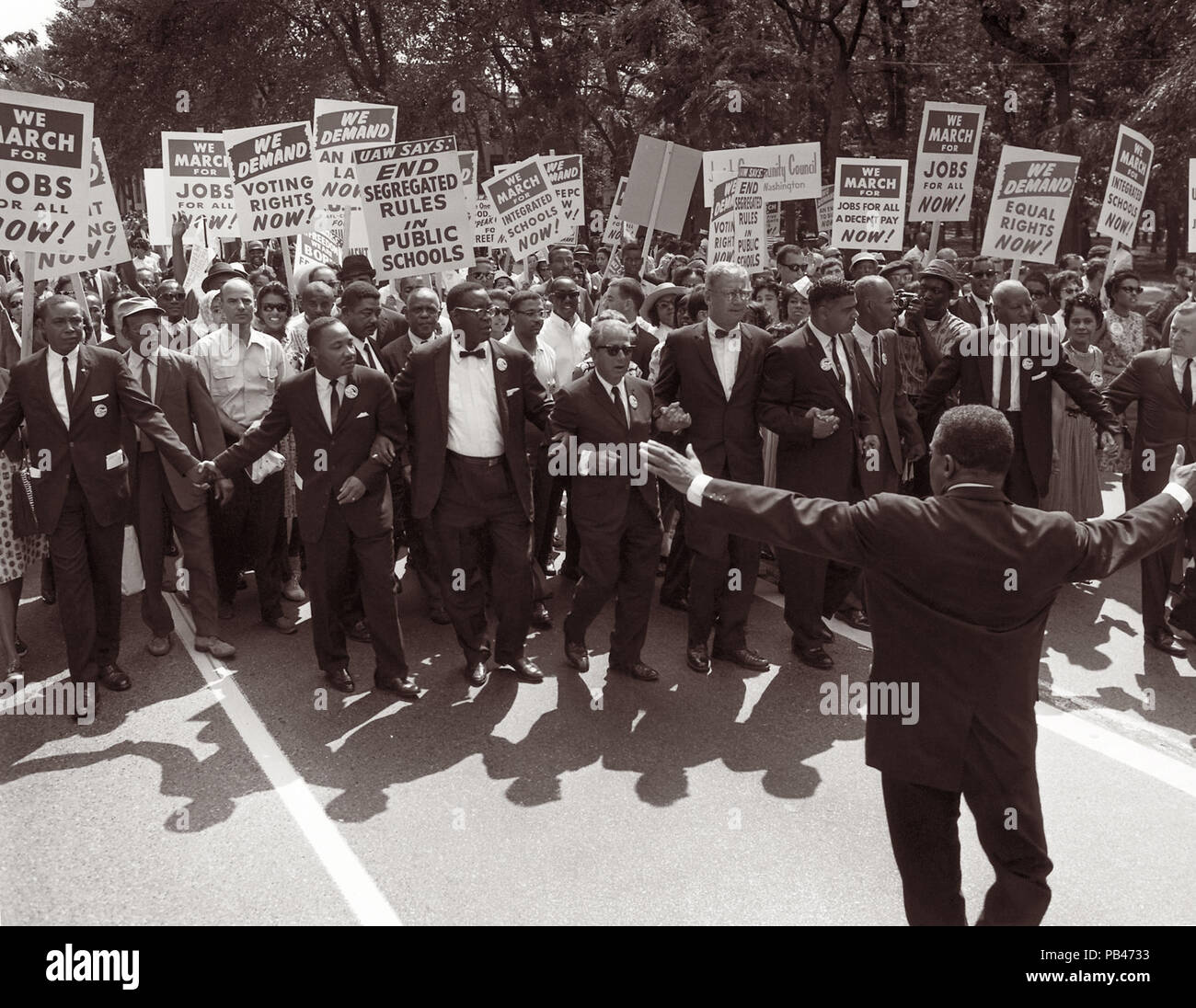 Martin Luther King Jr And Other Civil Rights Leaders At The Head