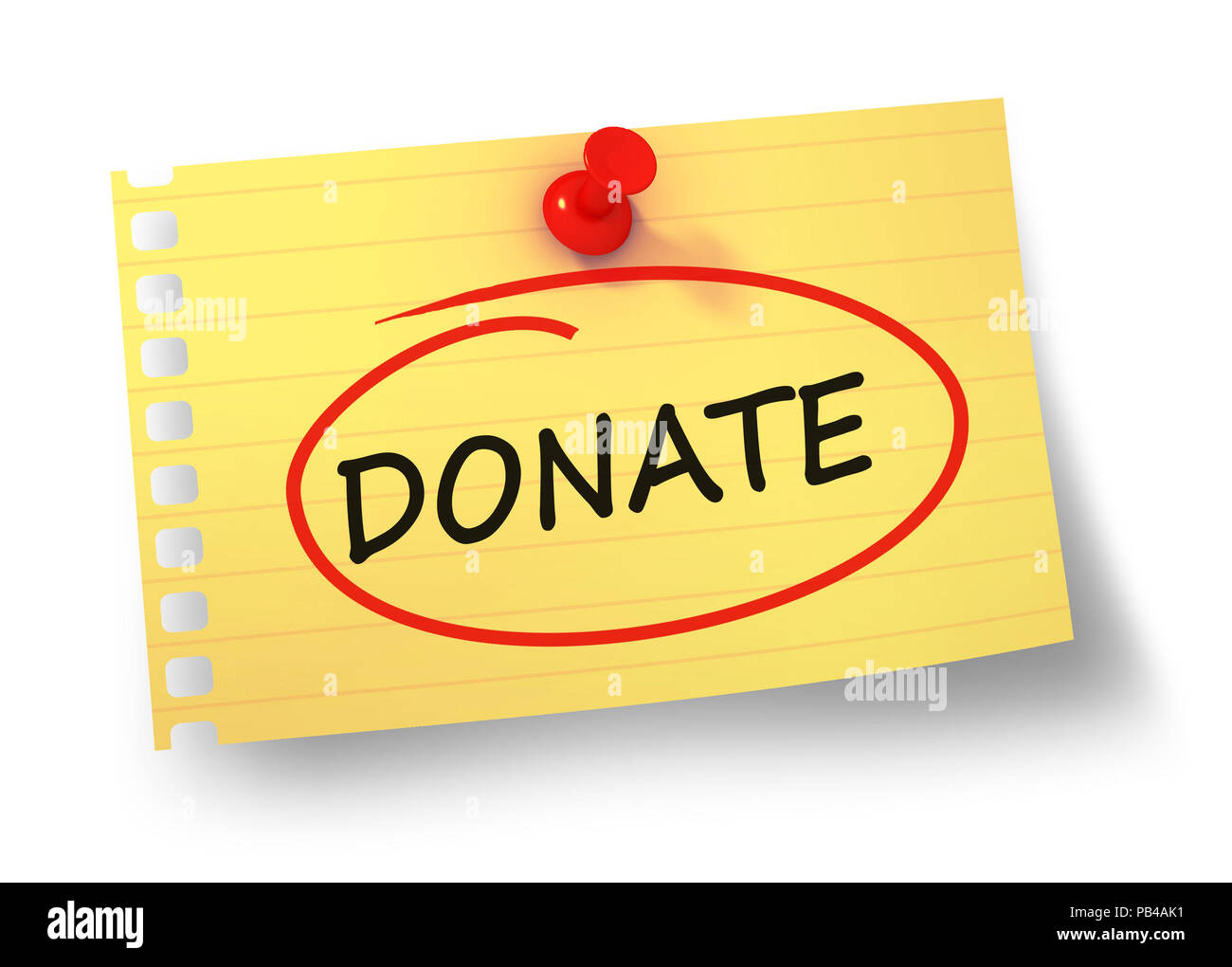 donate concept 3d illustration isolated - Stock Image