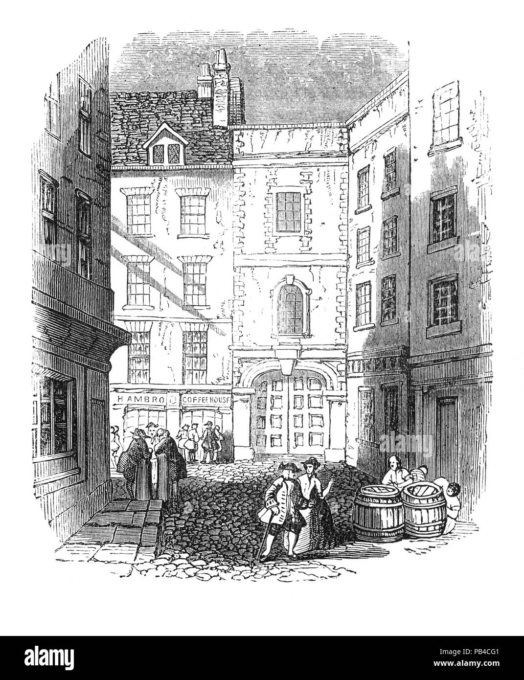 Old Trinity House, London, England. It came into being in 1514 by Royal Charter granted by Henry VIII under the name 'The Master, Wardens, and Assistants of the Guild, Fraternity, or Brotherhood of the most glorious and undivided Trinity, and of St. Clement in the Parish of Deptford-Strond in the County of Kent.'  The charter came as a result of a petition put forward on 19 March 1513 by a guild of Deptford-based mariners who were troubled by the poor conduct of unregulated pilots on the Thames and asked the king for licence to regulate pilotage. - Stock Image