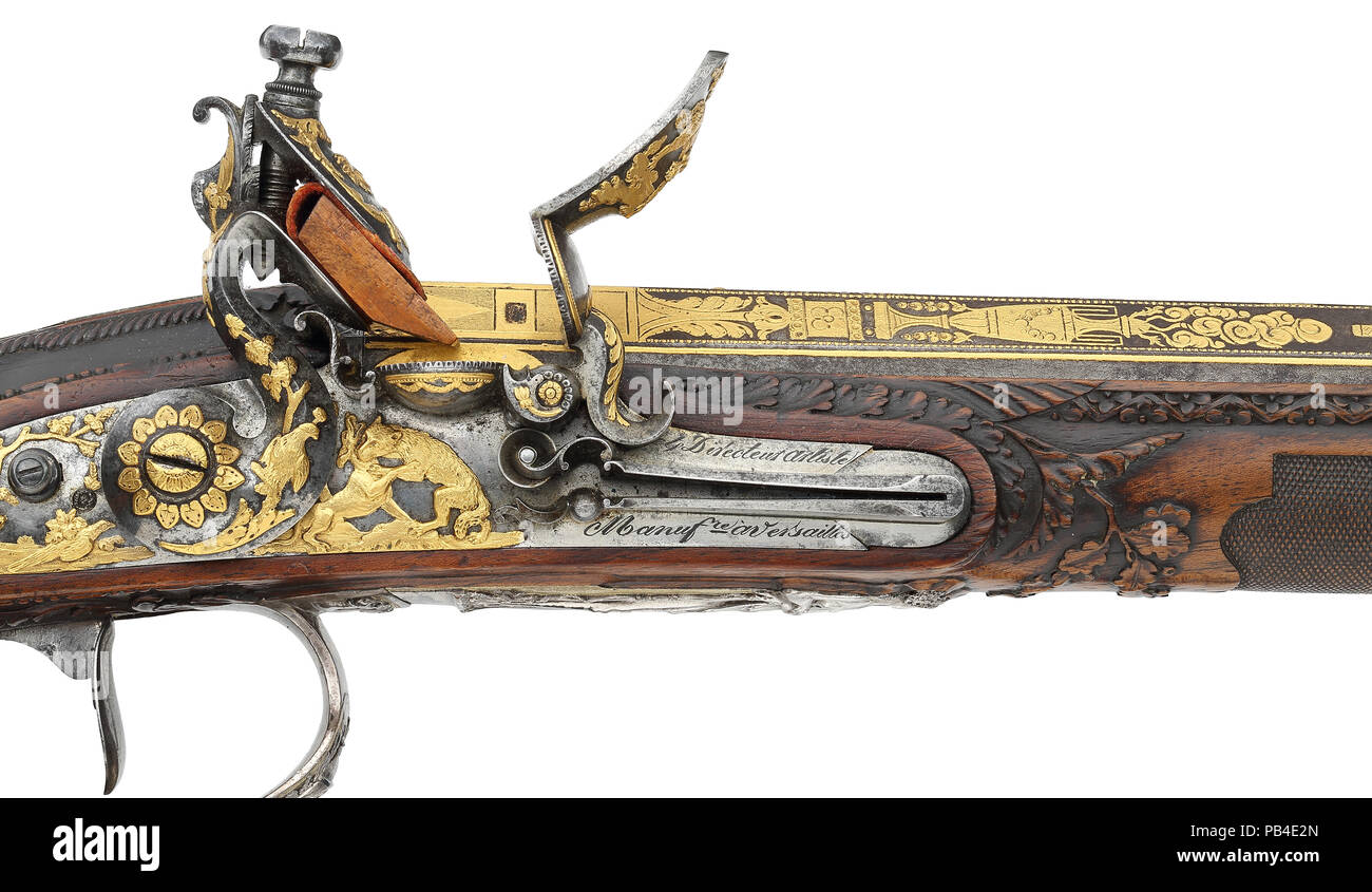 Flintlock gun by Nicholas Noel Boutet - Stock Image