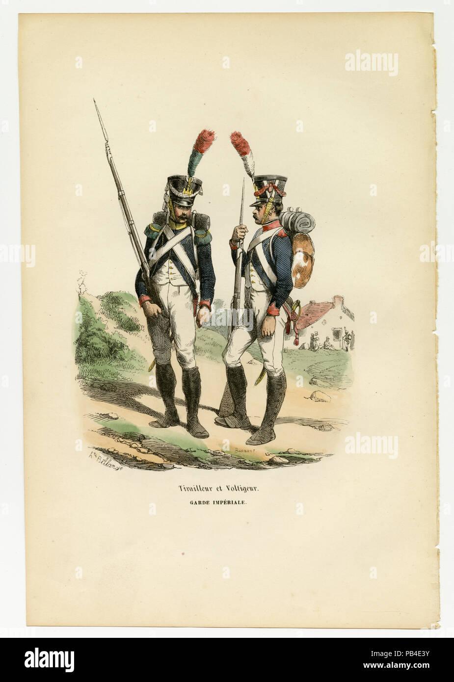 Tirailleur et Voltigeur, Garde Imperiale. - Stock Image