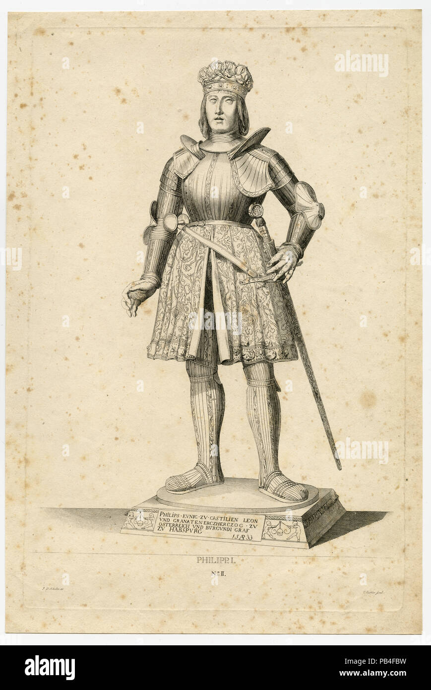 Statue of Philipp I - Stock Image
