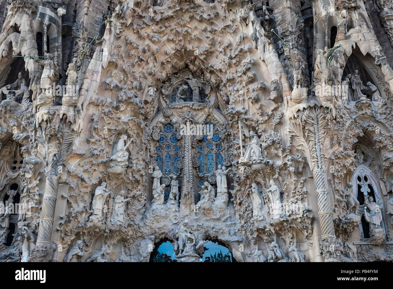 Barcelona Spain 13 January 2018 Elements Of The Statue And