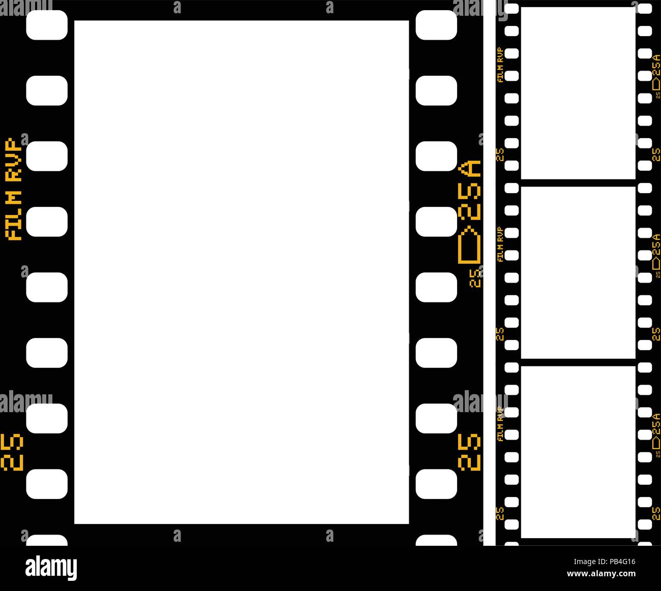 Film strip - frame of retro film for photograph or movie Stock ...