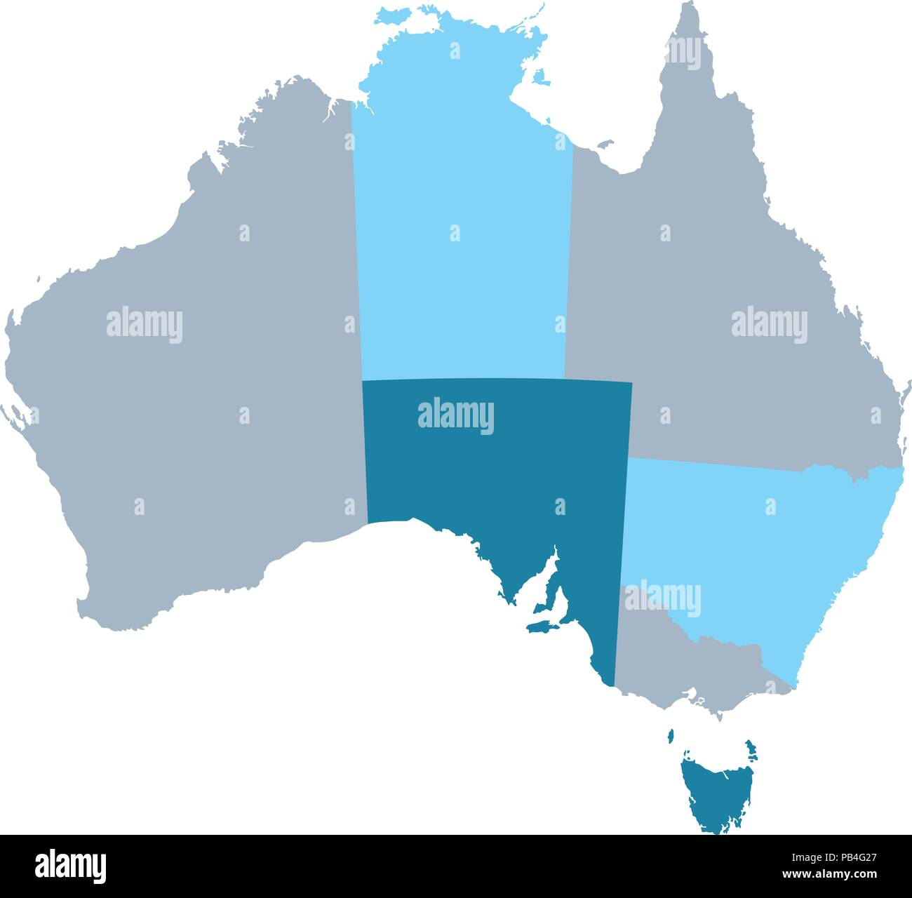 States And Territories Of Australia Map.Map Of Australia With States And Territories Stock Vector Art