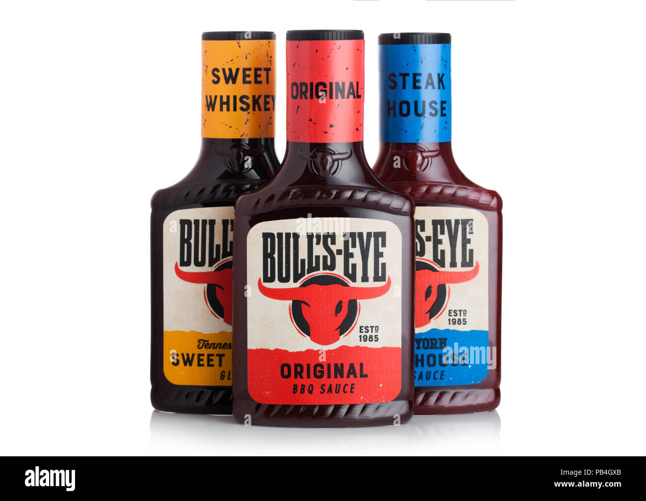 london-uk-july-28-2018-plastic-bottles-of-bulls-eye-bbq-sauce-on-white-background-PB4GXB.jpg