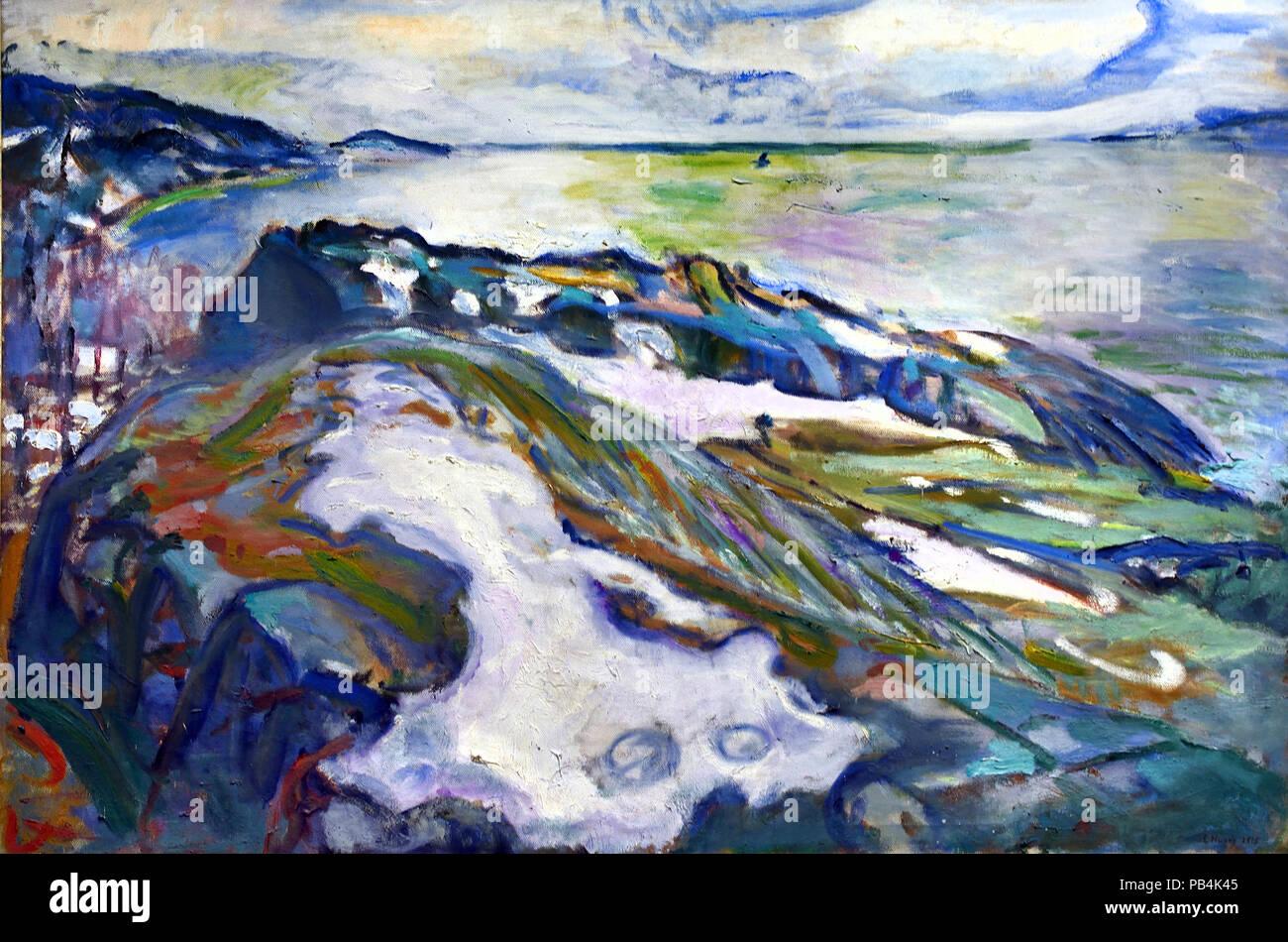 Winter Landscape 1915 Edvard Munch 1863-1944 Norway Norwegian - Stock Image