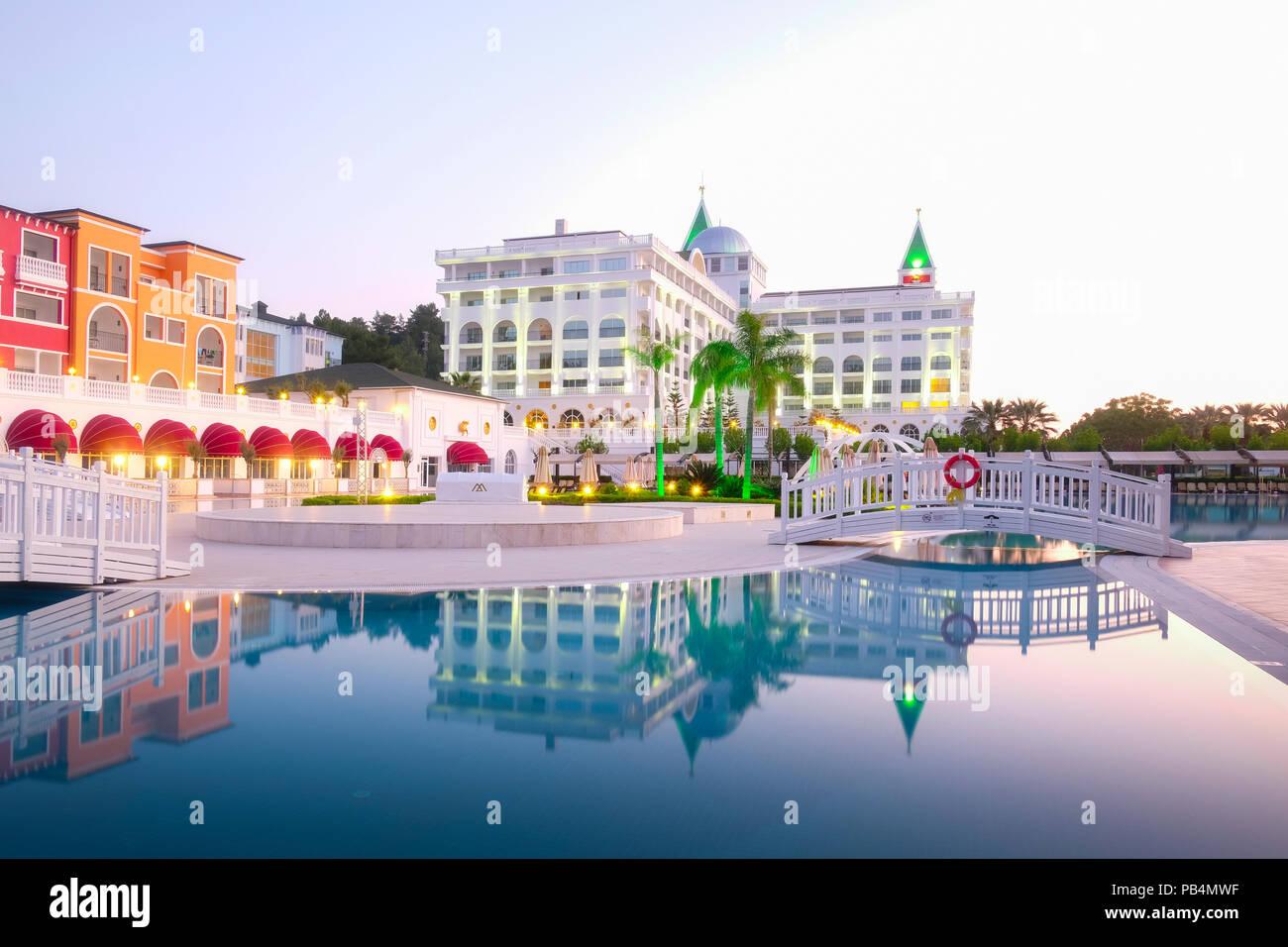 The popular resort Amara Dolce Vita Luxury Hotel - Stock Image