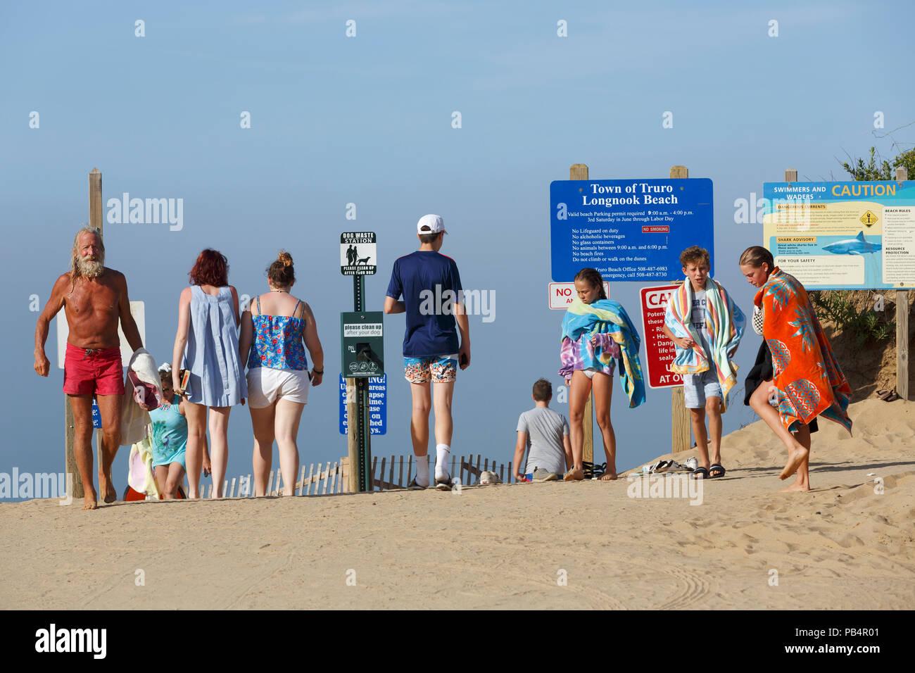 Cape Cod National Seashore, ,Longnook Beach, Truro, Massachusetts - Stock Image
