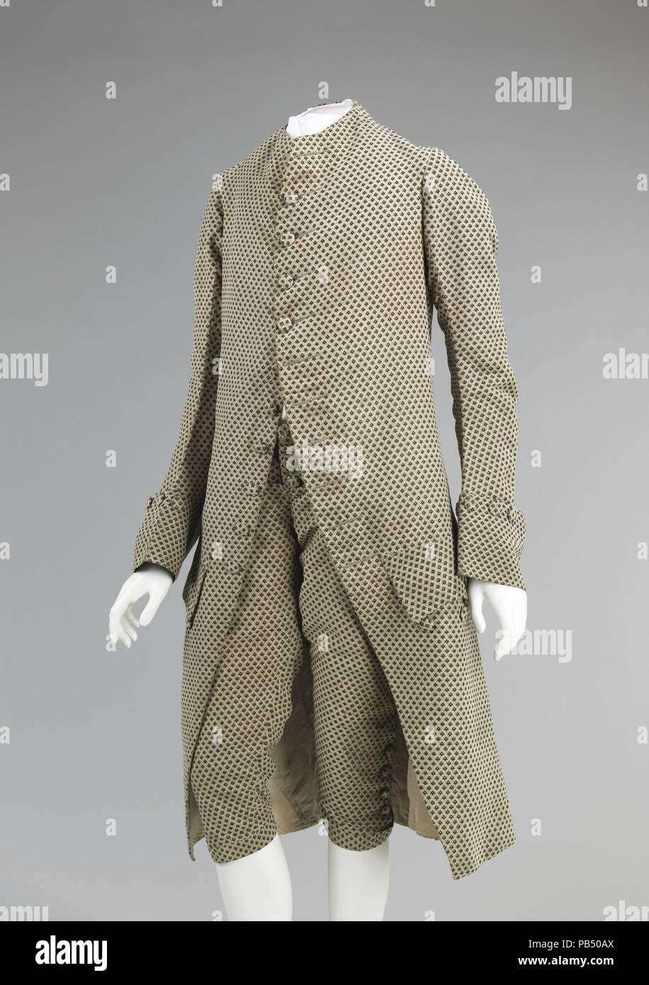 Suit Culture British Date Ca 1760 Mid 18th Century Men S Suits