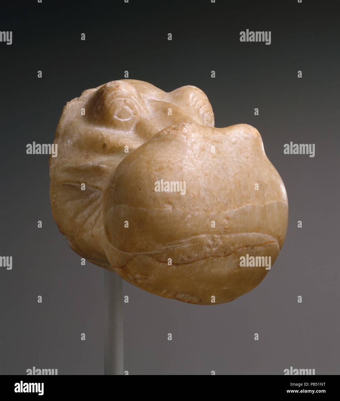 Head of a Hippopotamus  Dimensions: H  14 cm (5 1/2 in)