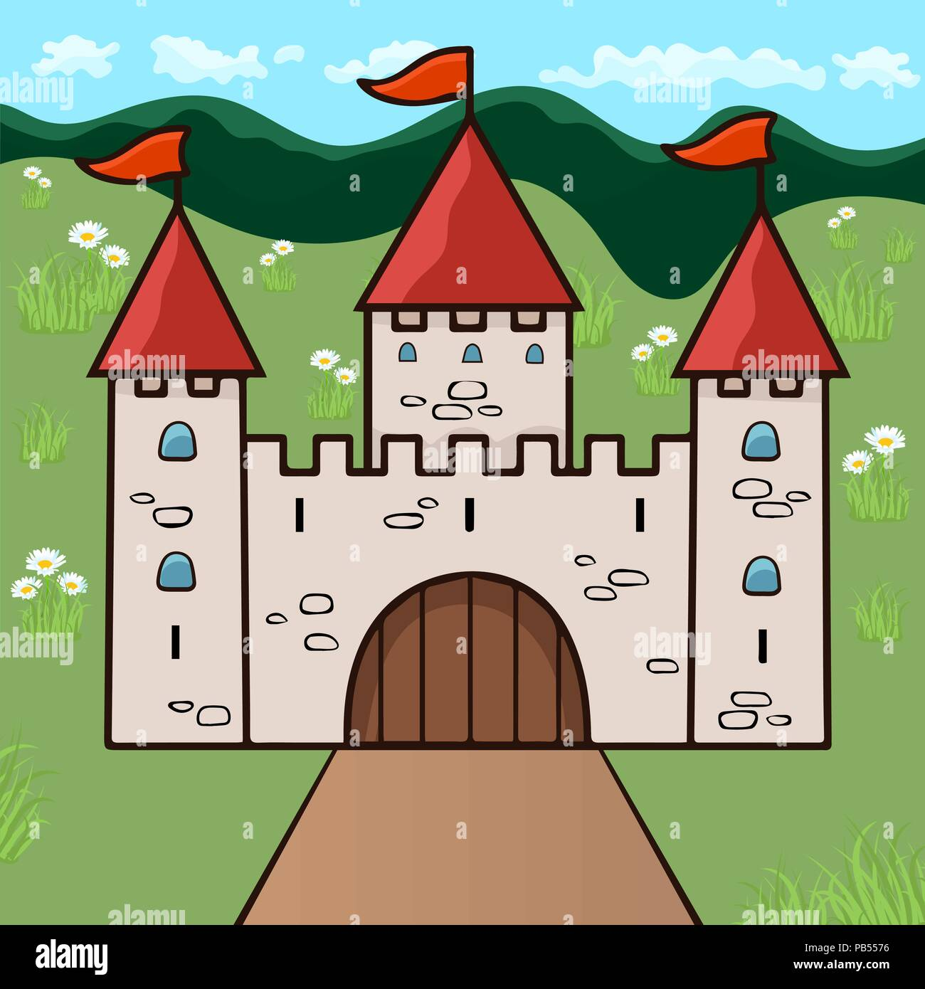 It's just a picture of Slobbery Castle Cartoon Drawing
