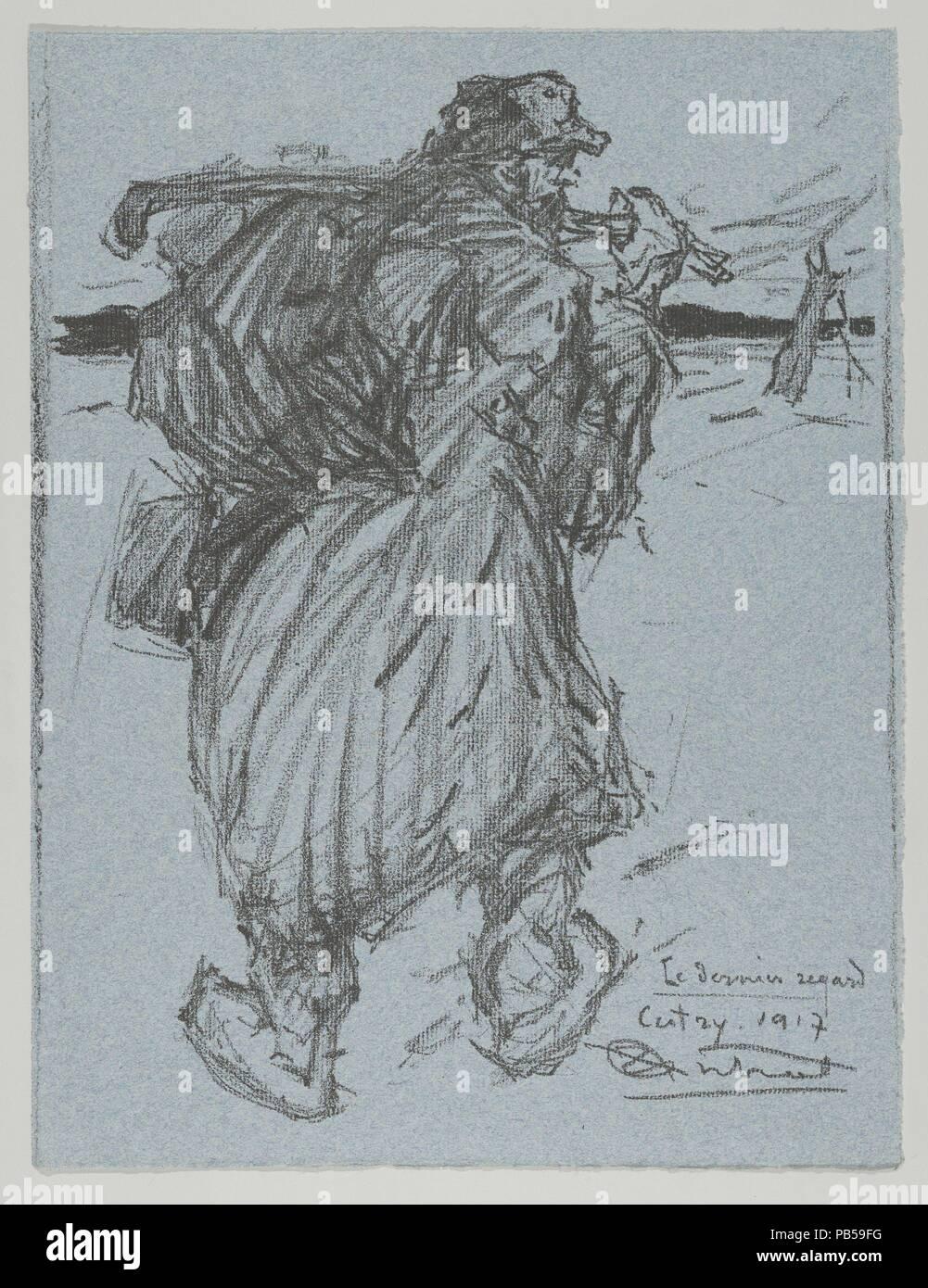 Le Dernier Regard From Les Evacus Artist Louis Robert Antral French Chlon Sur Marne 1895 1939 Paris Dimensions Sheet 12 3 8 X 9 In