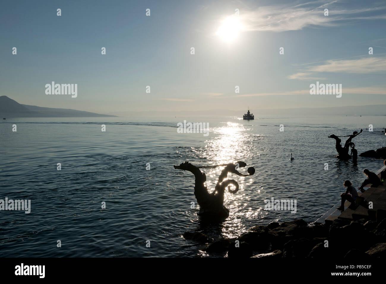 Switzerland, Vaud, Waadt, Vevey, CGN, bateau, Schiff, boat