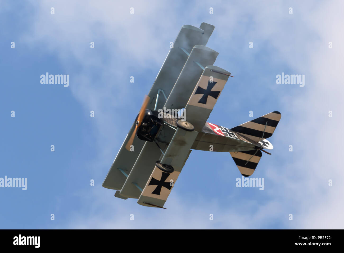 WW1 Classic Biplanes flying at the Royal International Air Tattoo - Stock Image
