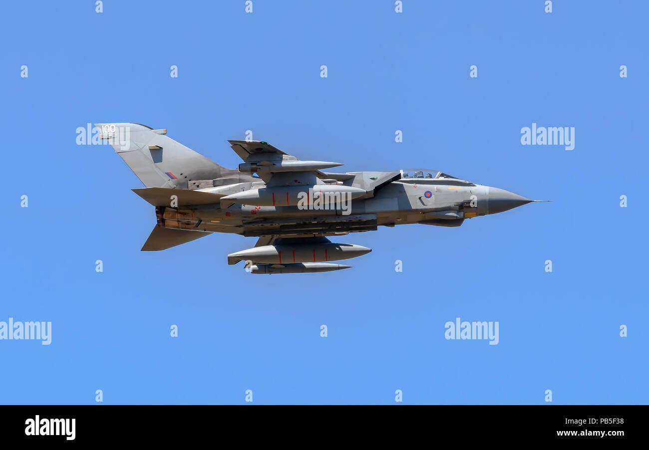 Royal Airforce Tornado GR4 performing at the Royal International Air Tattoo Stock Photo