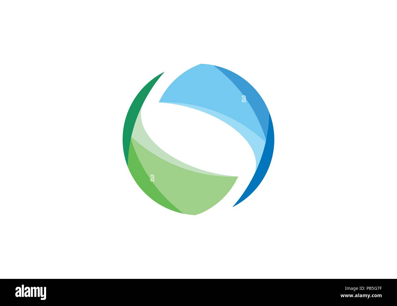 abstract elements sphere circle geometry logo, nature