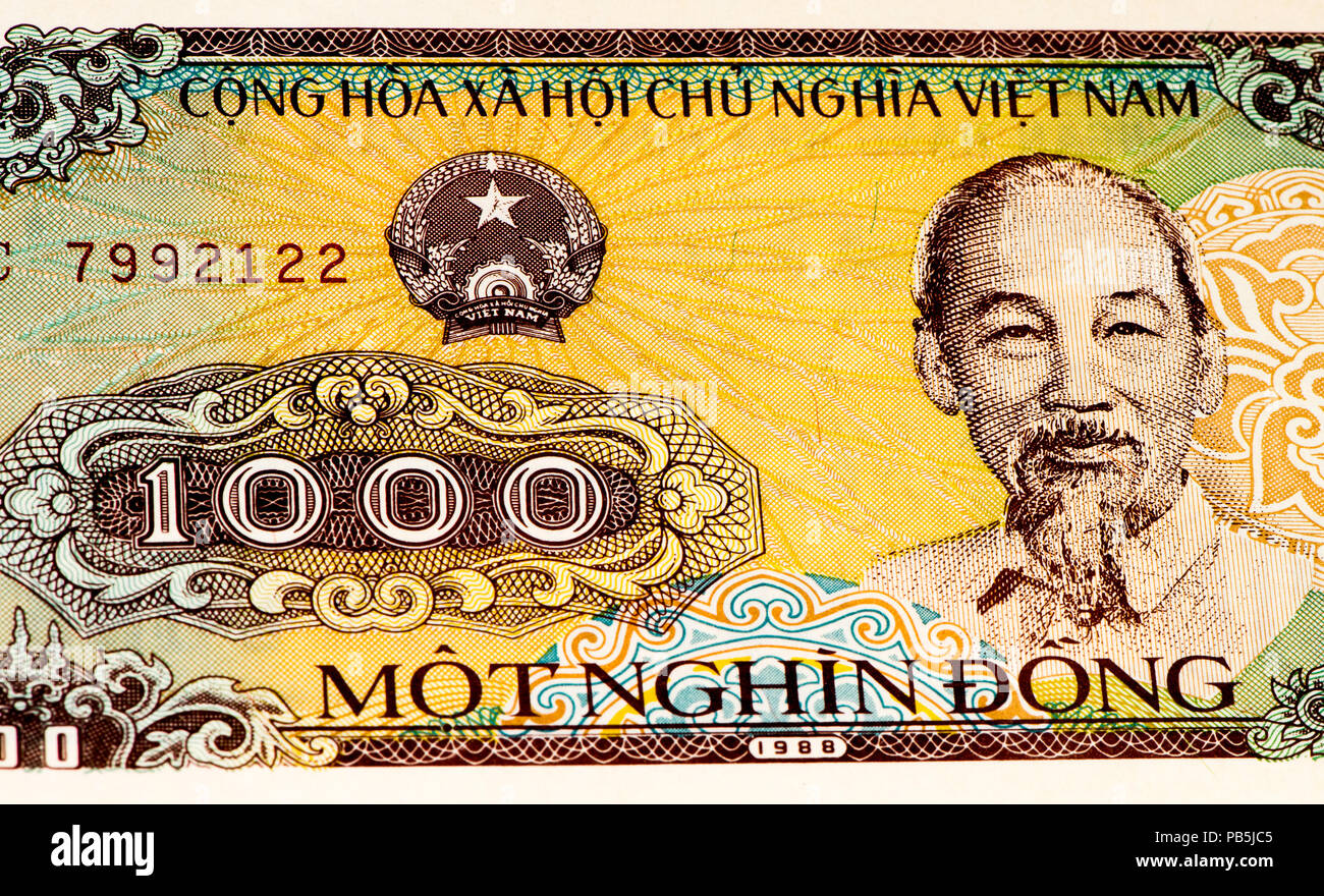 1000 Dong Bank Note Of Vietnam Dong Is The National Currency Of Vietnam Stock Photo Alamy