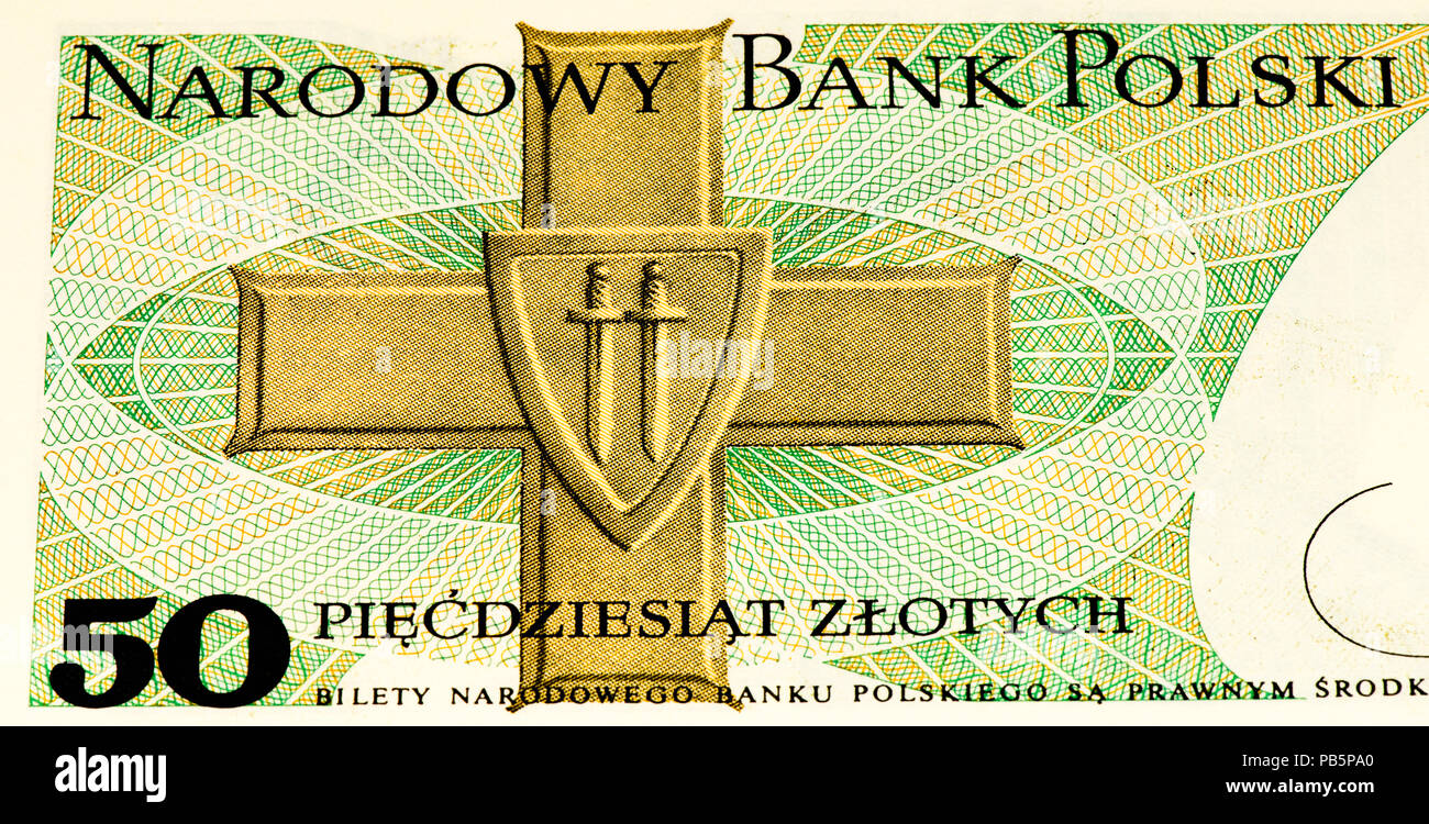 50 Polish Zloty Bank Note Zloty Is The National Currency Of Poland