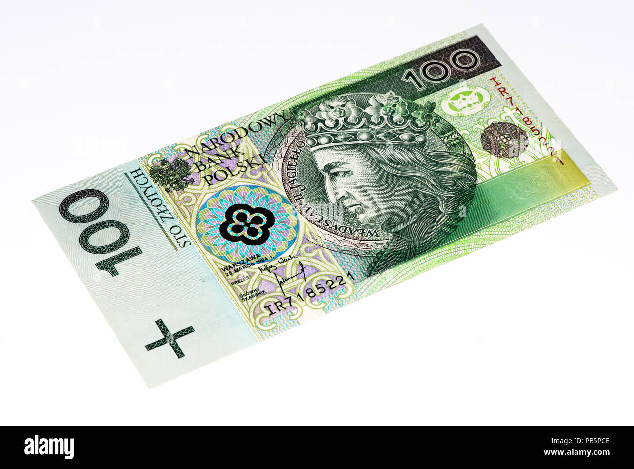 100 Polish Zloty Bank Note Zloty Is The National Currency Of Poland