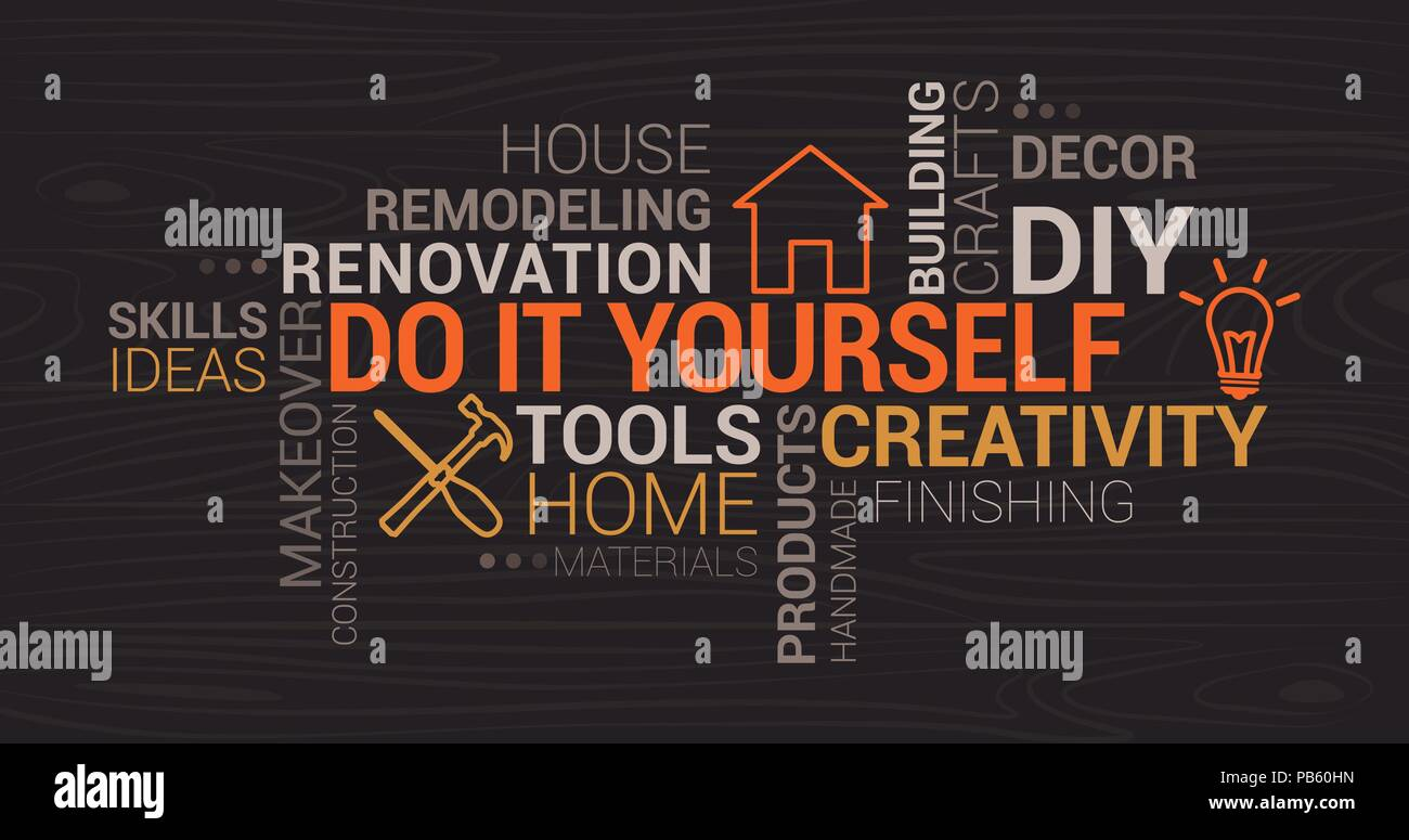 Do it yourself and home renovation tag cloud with icons and concepts do it yourself and home renovation tag cloud with icons and concepts solutioingenieria Choice Image