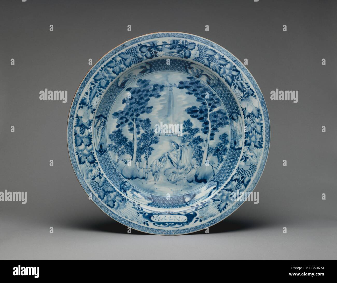 Dish With John The Baptist Culture Chinese Made For Export