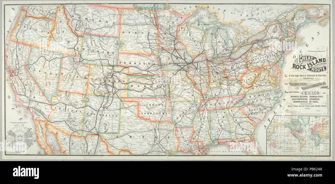 1093 New and correct map of the Great Rock Island route, Chicago ...