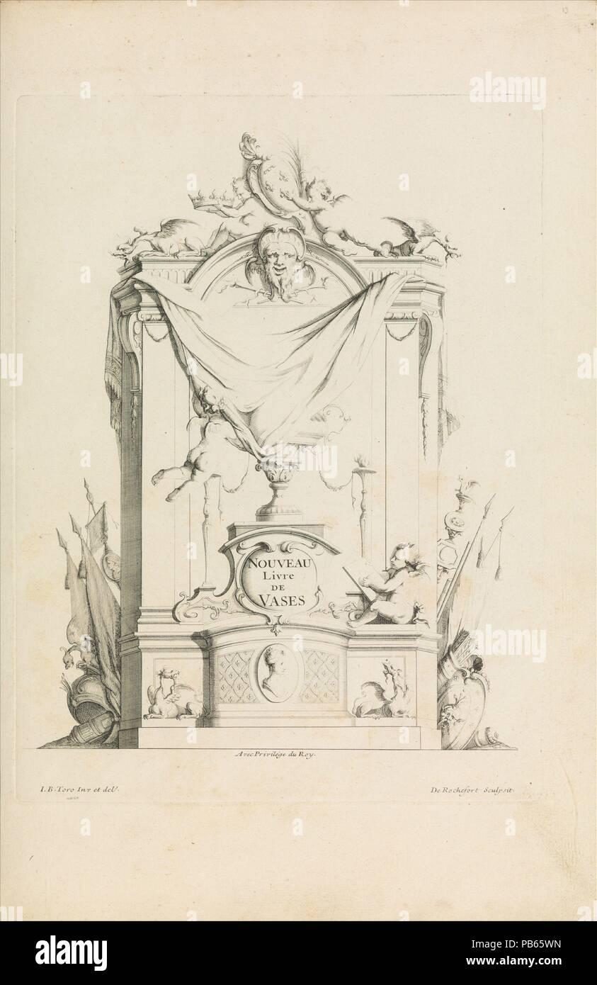 Nouveau Livre De Vases Title Page Designer Jean Bernard