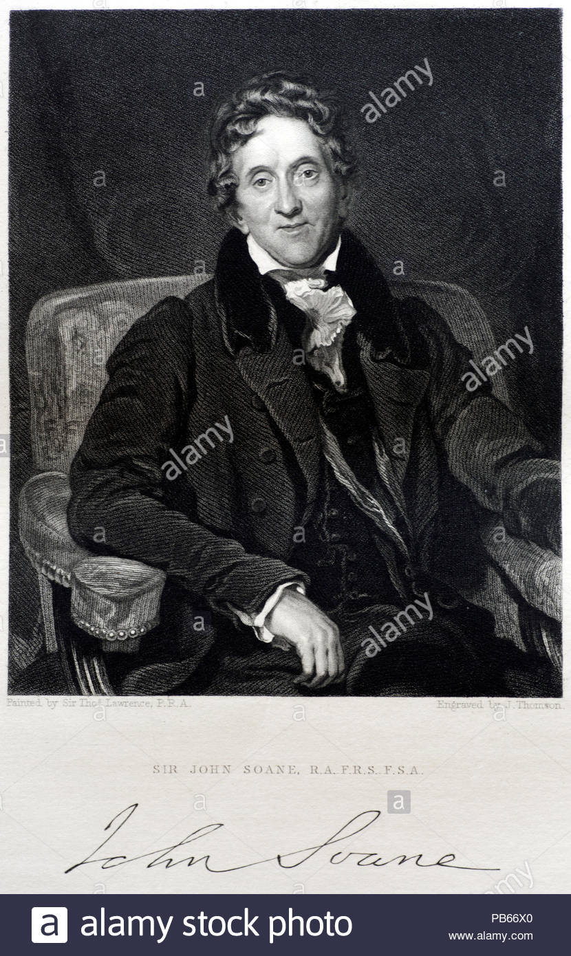 7b8e3c974 Sir John Soane RA, 1753 – 1837 was an English architect who specialised in  the Neo-Classical style, becoming professor of architecture at the Royal  Academy, ...