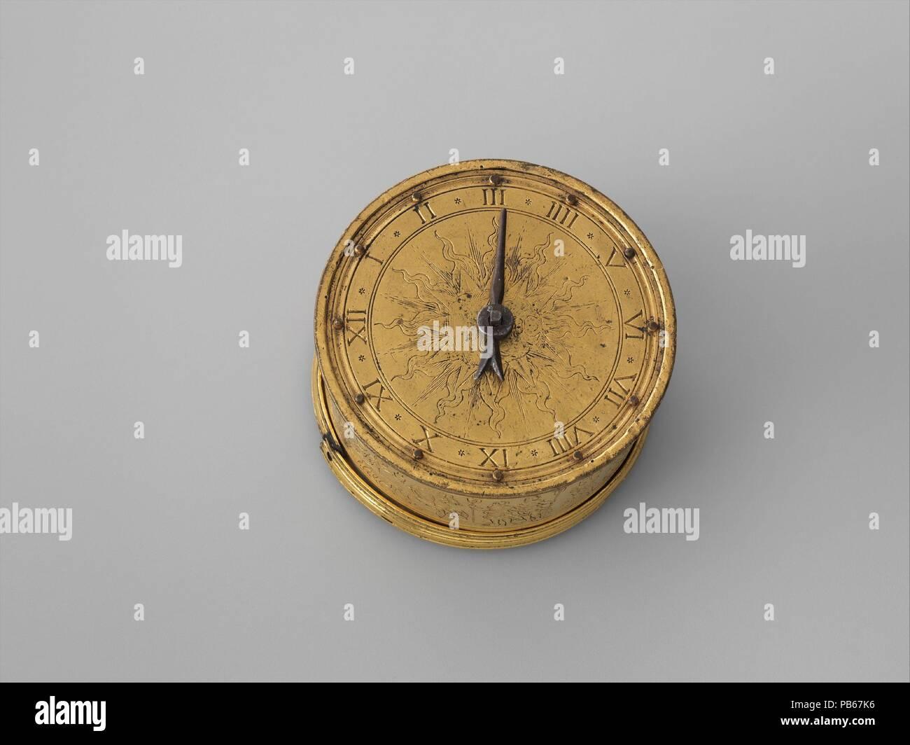 Table clock  Culture: German, possibly Nuremberg  Dimensions