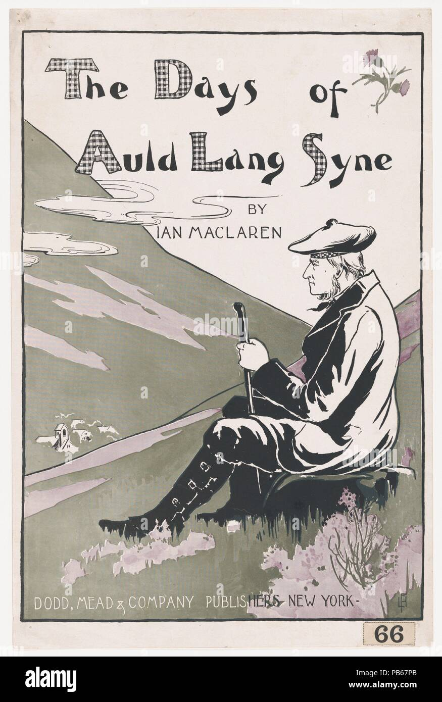 The Days of Auld Lang Syne. Artist: L. F. Hurd (American, active 1890s). Dimensions: Sheet: 18 1/4 × 12 1/16 in. (46.3 × 30.6 cm)  Image: 16 13/16 × 11 1/2 in. (42.7 × 29.2 cm). Publisher: Dodd, Mead & Co.. Date: 1895. Museum: Metropolitan Museum of Art, New York, USA. - Stock Image