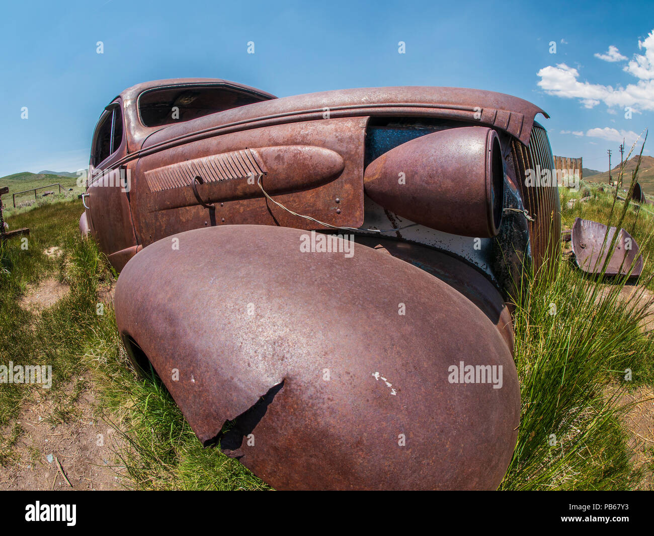 Old car, Bodie ghost town, Bodie State Historic Park, California. - Stock Image