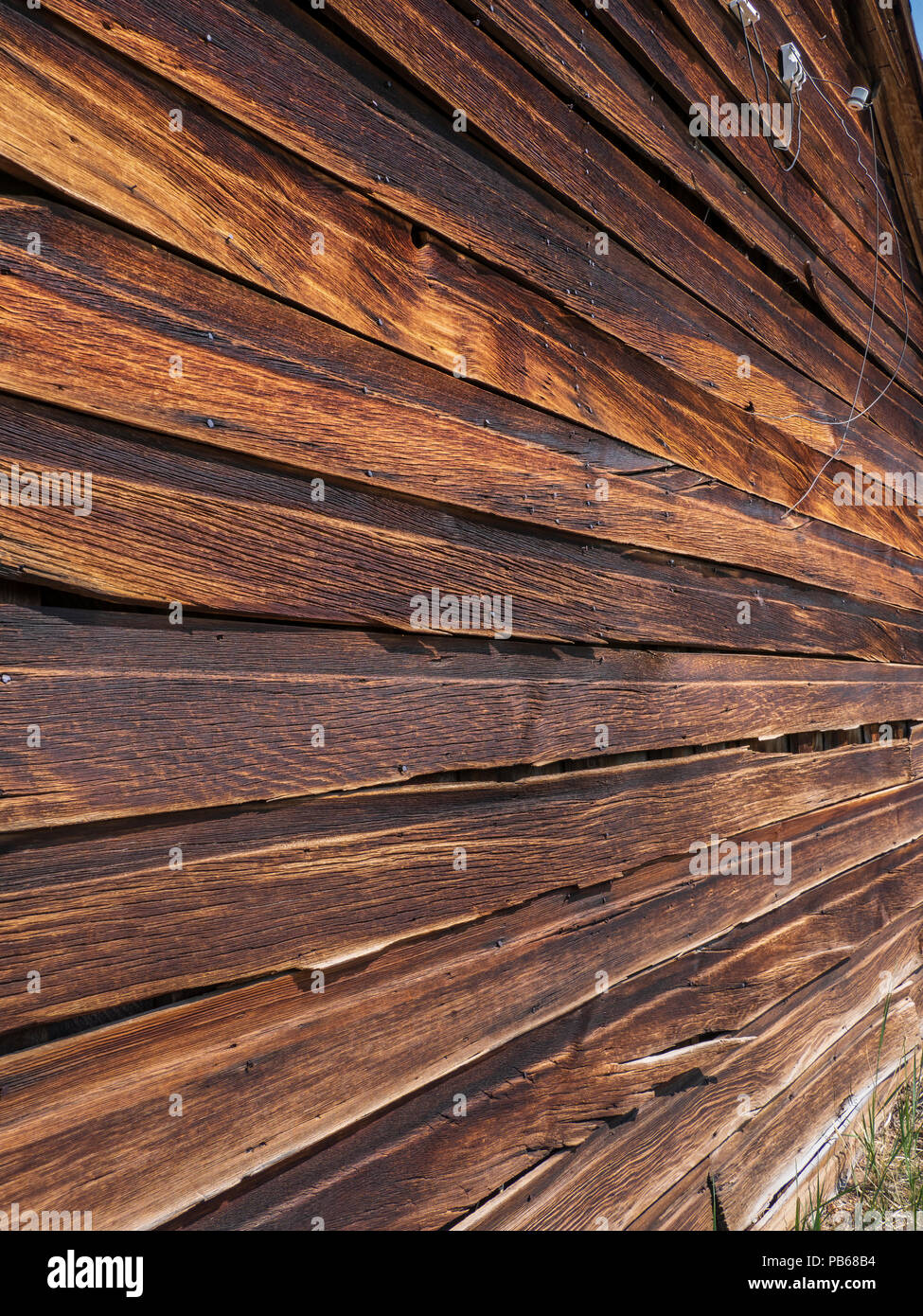 Wooden siding, Bodie ghost town, Bodie State Historic Park, California. Stock Photo