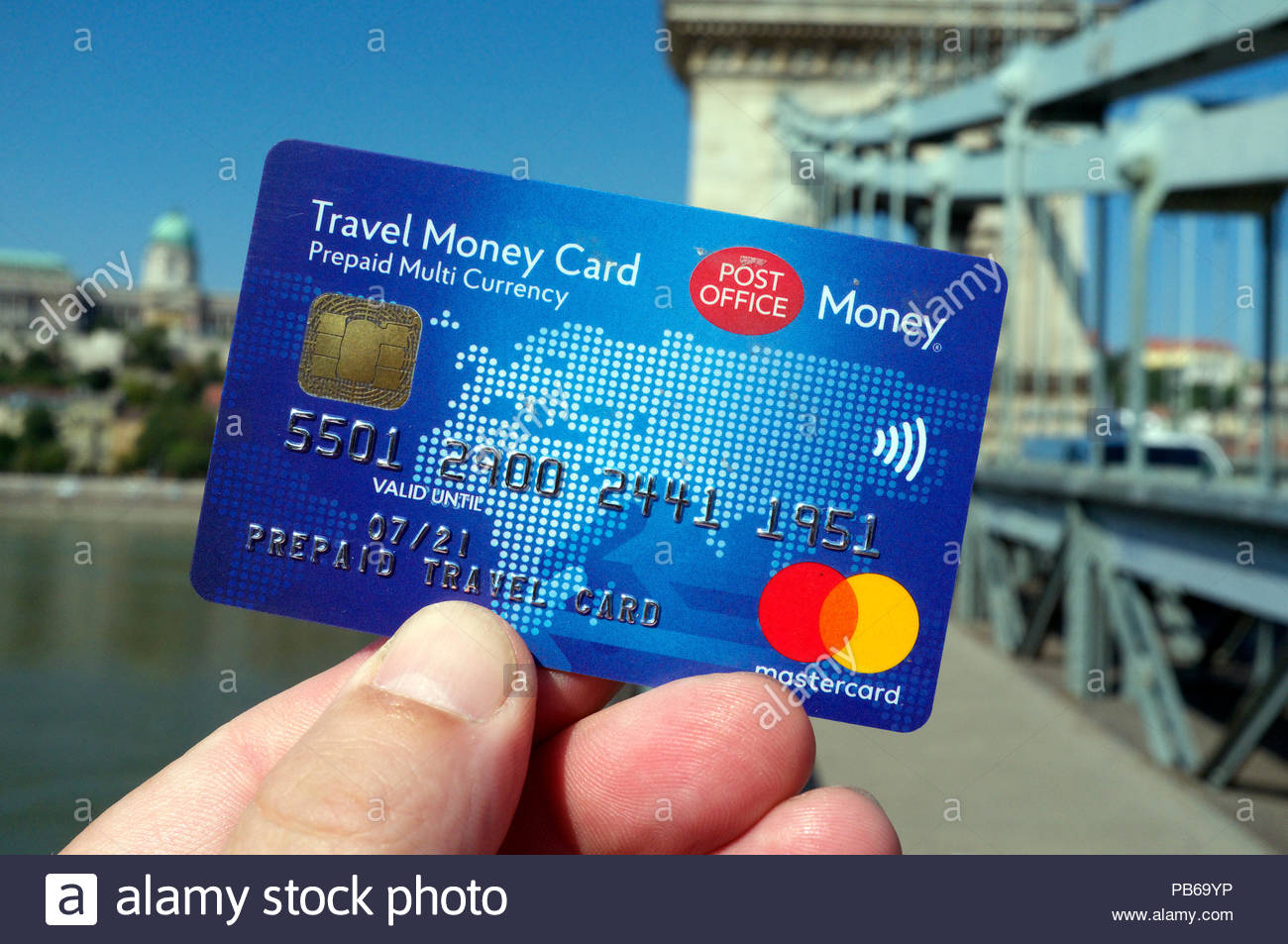 A prepaid multi currency Travel Money Card, issued by the Post Office (UK)