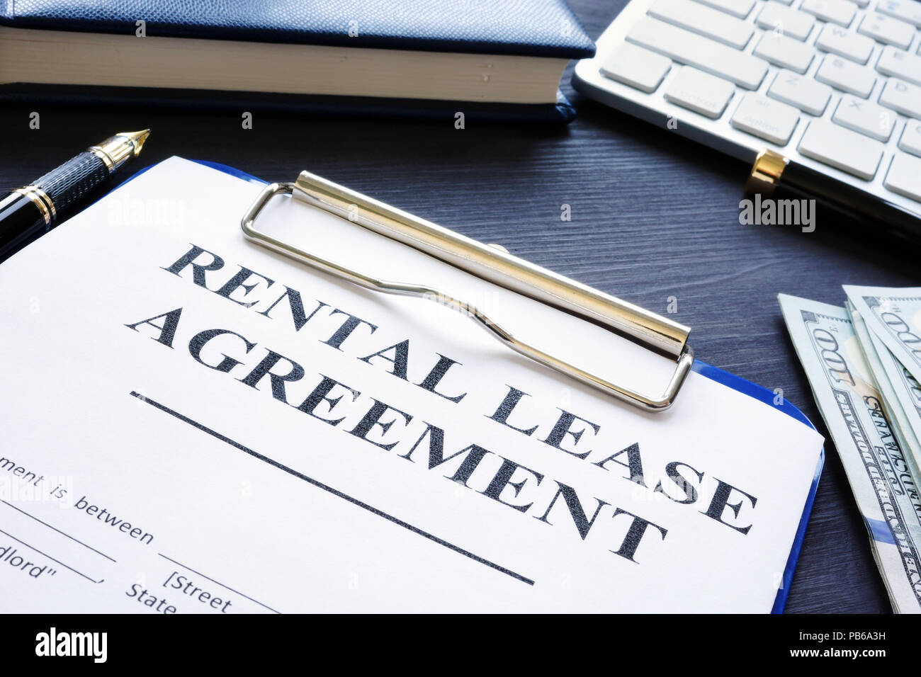 Rental Lease Agreement With Pen On A Desk Stock Photo 213425285 Alamy