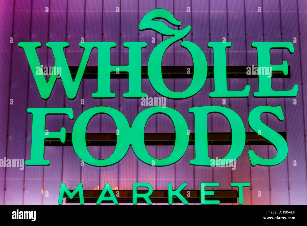 Indianapolis - Circa July 2018: Whole Foods Market  Amazon
