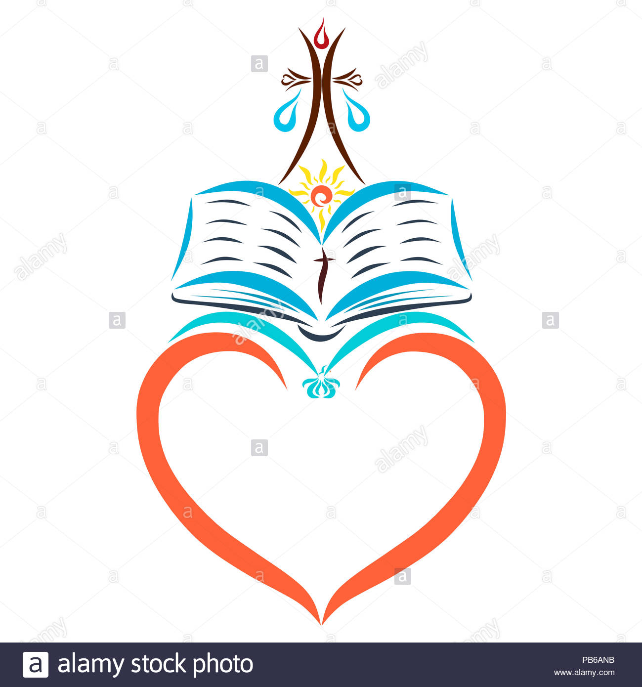 Frame In The Form Of Heart Christian Symbols Stock Photo 213425783