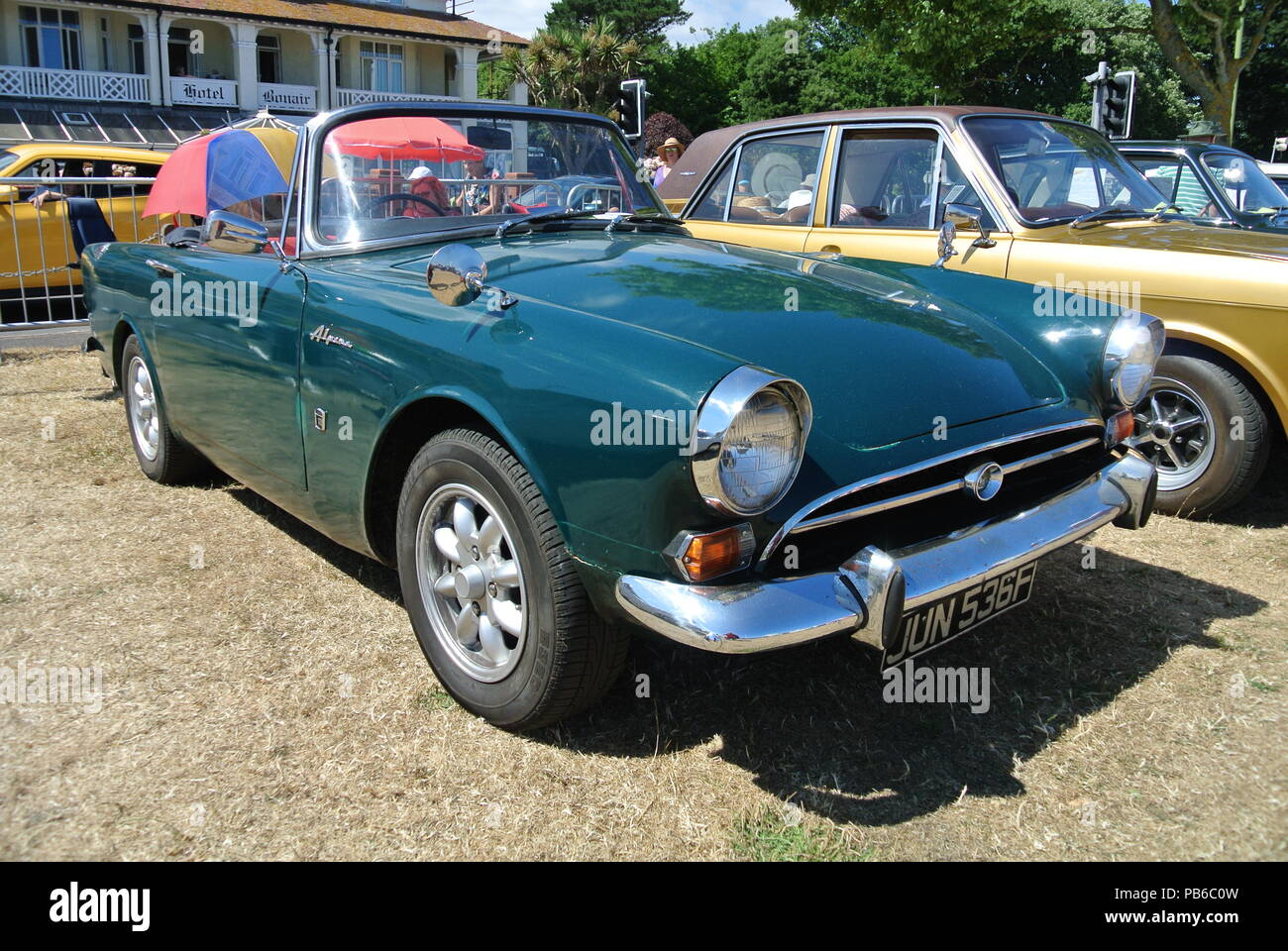 Sunbeam Alpine 1725 Parked On Display At The English Riviera Classic