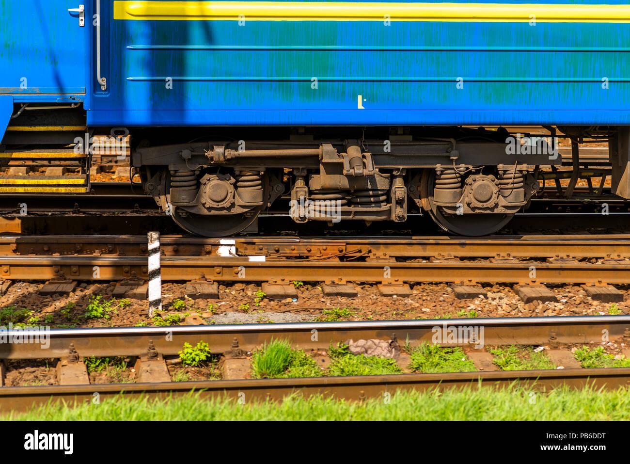 wheel-train of a train car - Stock Image