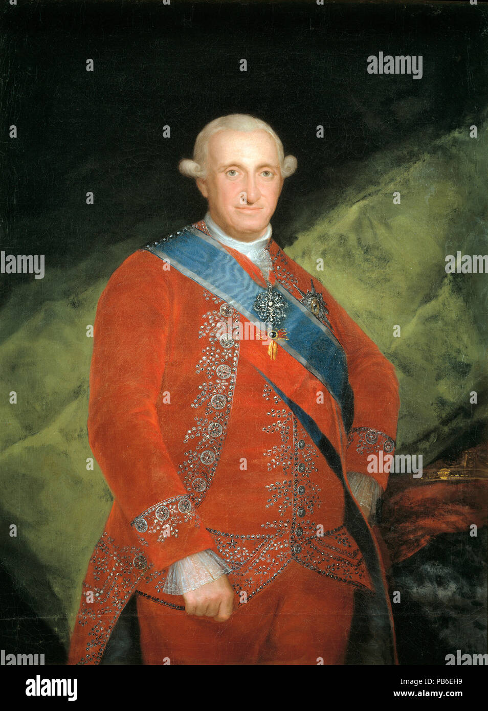 Charles IV (1748 – 1819) King of Spain from 1788 until 1808 - Stock Image